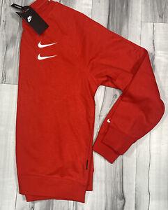 Nike NSW Sportswear Swoosh Woven Crew Sweater Red Men's Size M DB4955-657
