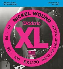 D'Addario Exl170 Nickel Roundwound Bass Strings - Reg/Lt. Gauge 4's - 45-100