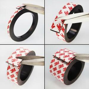 ★TheQ★ Magnetband 2 mm stark 10 - 50 mm breit 3M Kleber Magnetstreifen Meterware