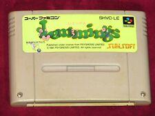 SUPER NINTENDO - LEMMINGS! JAPAN CARTRIDGE SNES! SUNSOFT RARE PUZZLE GAME
