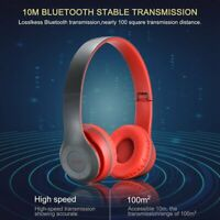 Bluetooth Headphones Foldable Stereo Wireless Headset Earphones Super Bass