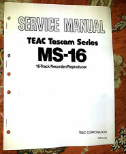 TASCAM MS-16 MS16  Repair / Service Manual w/ schematics