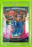 Zion Williamson 2019-20 Panini Prizm Draft Pick All American Pink Pulsar Rookie