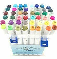 Art Marker Pens - 48 Dual Tip Alcohol Based Ink Sketch Marker Set - Permanent