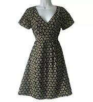 PREPPY WOMEN'S UK 8 FLORAL ELEGANT TEA DRESS GOODWOOD LANDGIRL RETRO PARTY