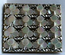 Vintage 1940's MARHILL Compact Powder Box & Mirror Mother Of Pearl Case