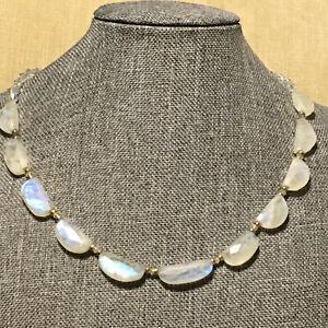 "Rainbow Moonstone Necklace 17"""
