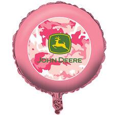 JOHN DEERE PINK CAMOUFLAGE FOIL MYLAR BALLOON ~ Birthday Party Supplies Helium