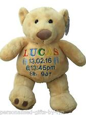 Large Personalised teddy bear, Mumbles, Christening, Birth, Bridesmaid, Weddings