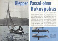 Klepper Passat Segelfaltboot / Faltboot / Jolle - Original Test von 1962