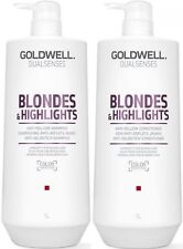GOLDWELL DUALSENSES BLONDE & HIGHLIGHTS SHAMPOO 1 LITRE AND CONDITIONER 1 LITRE