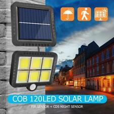 COB 120LED Solar Motion Sensor Wall Light Outdoor Waterproof Garden Lamp