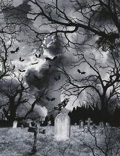 Patchworkstoff Graveyard Gothic Friedhof Patchwork Stoff Halloween Baumwollstoff