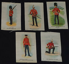 VINTAGE - CANADIAN SOLDIERS TOBACCO /CIGARETTE SILKS (5)  #2, #11, #17, #22, #50