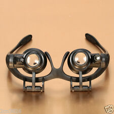 10x-25x Eyeglasses Magnifier Jeweler Watch Repair Loupe Lighted Magnifying Glass