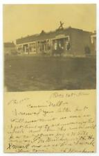 1907 Everest Kansas Post Office business block Selz Shoes Dry Goods Real Photo
