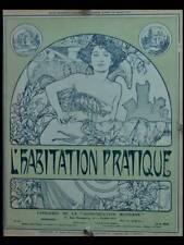MUCHA, L'HABITATION PRATIQUE - 1907 - PORTFOLIO, LITHOGRAPHIE ORIGINALE