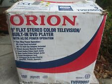 """Orion TVDVD092 9"""" CRT Television Built in DVD BRAND NEW Never Used"""