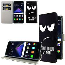 Huawei P10 Lite Handy Tasche Handyhülle Don't Touch my Cellphone +Folie