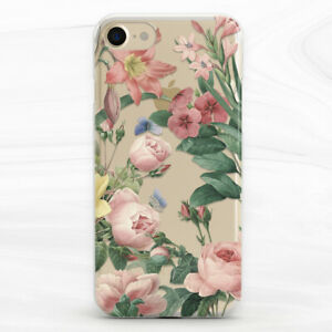 Vintage Floral Peony Cute Girl Case For iPhone 6S 7 8 Xs XR 11 Pro Plus Max