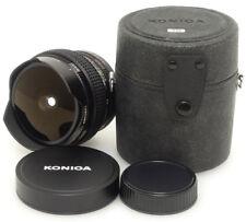 Konica UC Fish-eye Hexanon AR 15mm F2.8 Lens. Case