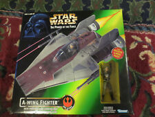 Star Wars Power of the Force A-Wing Fighter 1997 (BRAND NEW) With Pilot POTF2