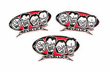 Metallica Lot Of 3 Iron On Patches Evil Faces 2000