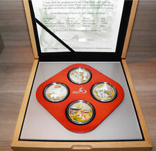 Cook Islands 2011 Lunar THE YEAR OF THE RABBIT 4 Coin 4 x 20 g Silver Proof Set