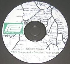 Penn Central Eastern Region Chesapeake Division  Track Chart PDF Pages on DVD
