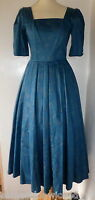 VINTAGE 1980S LAURA ASHLEY DRESS UK 10 VGC full skirt