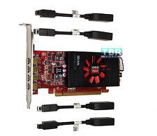 AMD FirePro W4100 2GB GDDR5 4Mini DisplayPorts PCI E Video Graphics Card Long