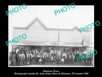 OLD LARGE HISTORIC PHOTO OF SHANNON TEXAS, VIEW OF THE AUTRY-GATES STORE c1900