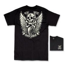 Lucky 13 Flying High Hot Rod Car Rockabilly Biker Goth Tatto T Shirt Men's SM C6