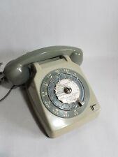 Téléphone vintage Alcatel gris à cadran décoration- Antic vintage phone