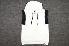 VERSACE COLLECTION WHITE LARGE SLEEVELESS HOODIE PULLOVER SWEATER MENS NWT NEW