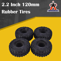 4Pcs AUSTAR 2.2 Inch 120mm Rubber Tires Tyre for 1/10 Axial SCX10 90056 90045