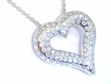 0.39ct Heart-Shaped Diamond Necklace in 18K White Gold