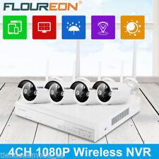 4CH Wireless CCTV 1080P DVR NVR WIFI WLAN 960P IP Camera Security System Kit EU