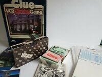 Clue VCR VHS Mystery Game Vintage Parker Brothers 1985 Board Game