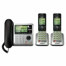 VTech CS6649-2 DECT 6.0 Corded Base & Cordless Dual-Handset Answering System