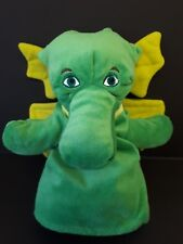 Puff The Magic Dragon Hand Puppet Rare Green Dragon Soft Toy