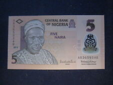 NIGERIA 2009 POLYMER ISSUE-5 NAIRA P38c? DATED 2013 - 7 NUMBER SERIAL -UNC