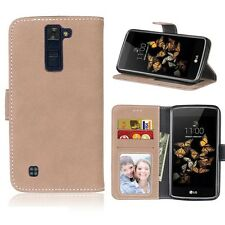 Retro Frosted Leather  Wallet Stand Card Slot PU Leather Case For LG