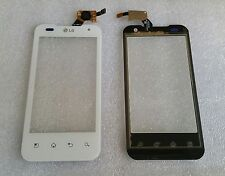 Touch Flex Touchscreen Glas Screen Digitizer Weiss für LG Optimus Speed 2X P990