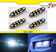 LED Light Canbus Error Free 6411 White 6000K Four Bulbs Dome Map Step Festoon