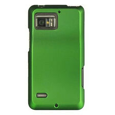 Verizon Motorola Droid Bionic HARD Case Phone Protector Cover Rubber Dark Green
