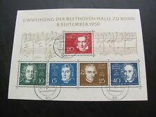 Germany 1959 Sc# 804 Beethoven Ss Used