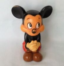 Walt Disney Production Mickey Mouse Figure Plastic Coin Piggy Bank Vintage Korea