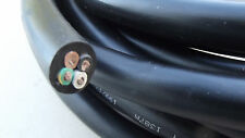 """25 FT COIL,12GAUGE,4WIRE,5/8""""OD,Yel/Grn,Brown,Grey,Black,JACKETED TRAILER CABLE"""