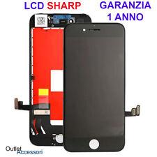 Display Schermo ORIGINALE SHARP Per Apple Iphone 7 Nero LCD Touch Vetro oem 7P
